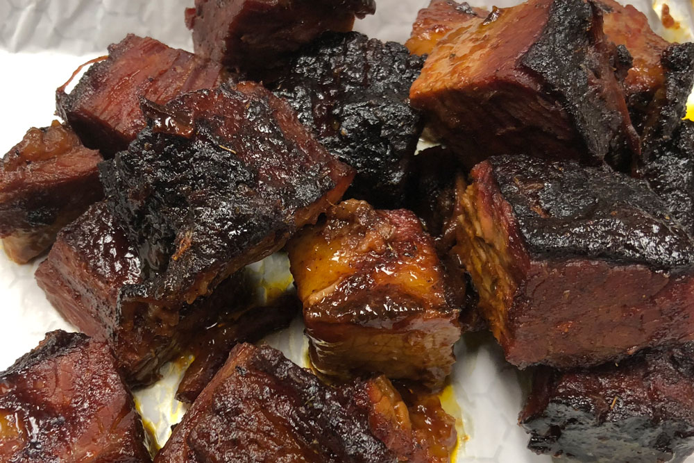 Burnt Ends at LD's BBQ Wisconsin